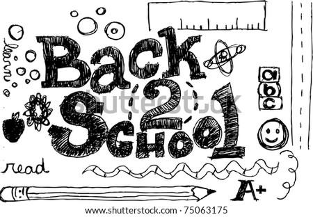 Back 2 School - stock vector