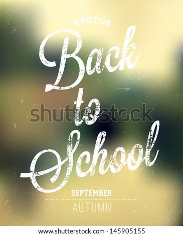 Back to school - stock vector