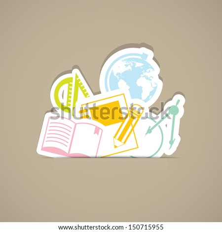 back to school and supplies,EPS10 - stock vector