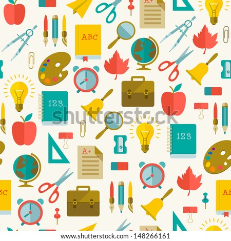 Back to school Back to school seamless pattern. Vector Illustration, eps10, contains transparencies. - stock vector