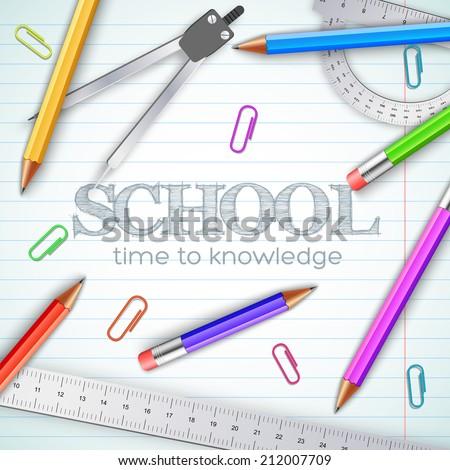 back to school background concept. Vector illustration design - stock vector