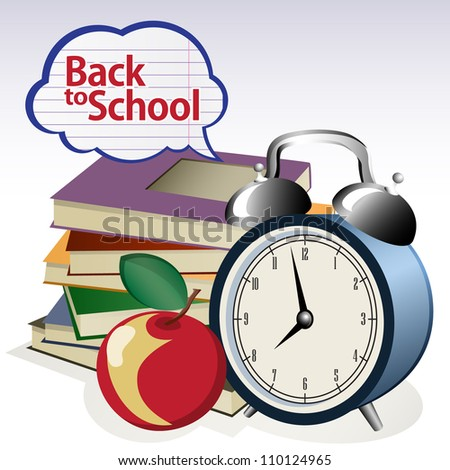 Back to school background. Grouped for easy editing. - stock vector
