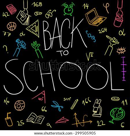 Back to school background vector - stock vector