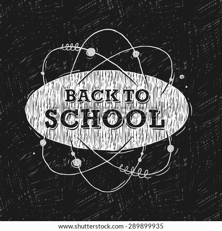 Back to school, background, vector illustration.  - stock vector