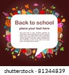 back to school - background with education icons - stock photo