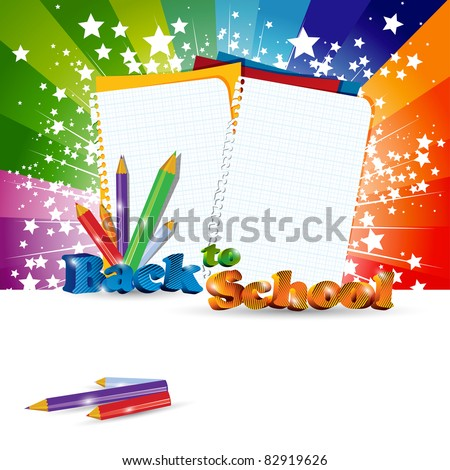 Back to School background with headline, eps10 vector illustration - stock vector