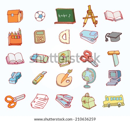 Back to school,  Banners or Bookmarks, vector illustration.