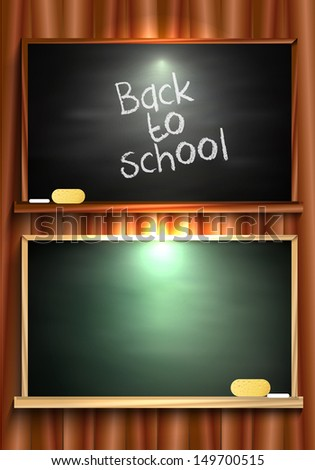 Back to school blackboard - stock vector