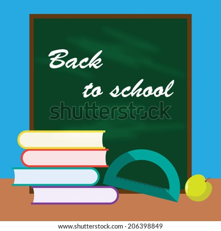 back to school cartoon background for use in design - stock vector