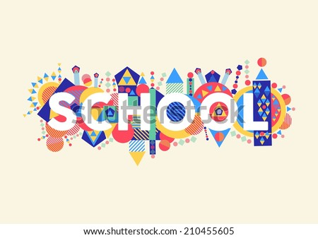 Back to school concept illustration with colorful abstract elements. EPS10 vector file organized in layers for easy editing. - stock vector