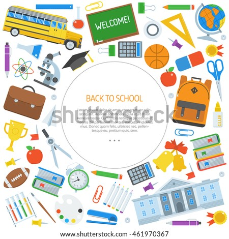 Back school congratulations card invitation template stock vector back to school congratulations card or invitation template with place for text education frame background stopboris Image collections