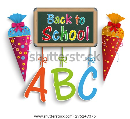 Back to school cover with candy cones. Eps 10 vector file. - stock vector