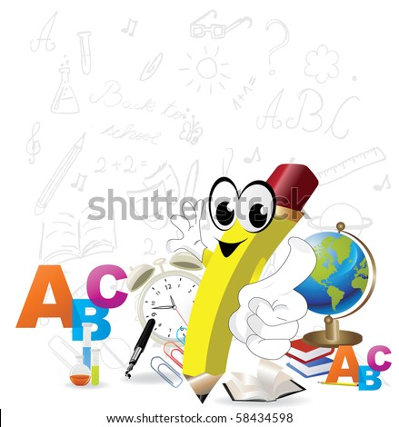 Back to School Design - Vector - stock vector