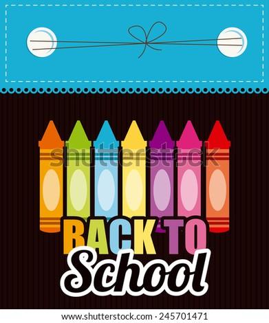 back to school design, vector illustration eps10 graphic  - stock vector