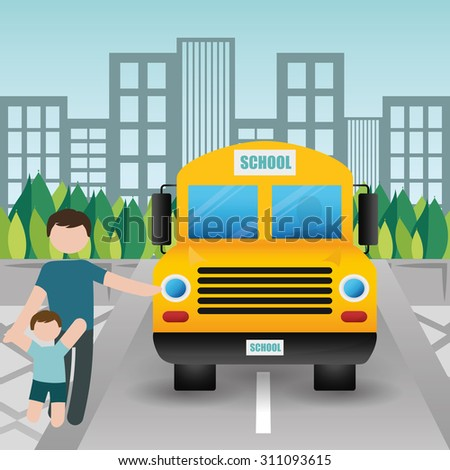 Back to school digital design, vector illustration 10 eps graphic