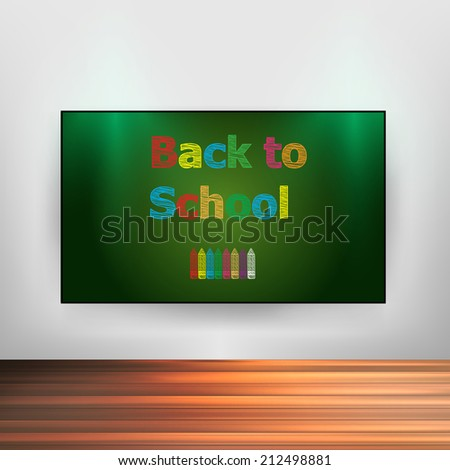 Back to School, easy editable - stock vector