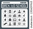 Back to school. Education icons set. - stock vector