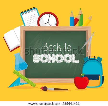 Back to school graphic design, vector illustration.