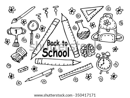 Back to school. Hand drawing illustration