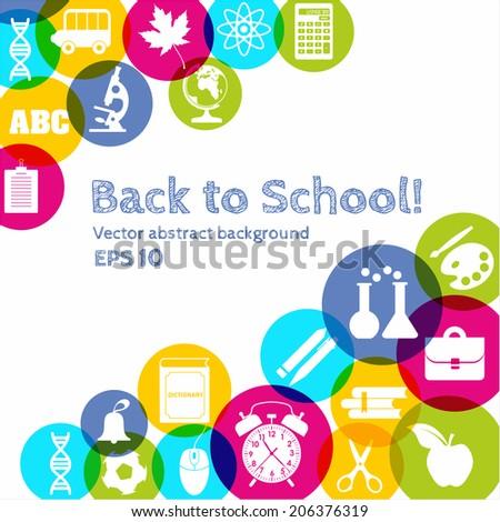 Back to school illustration - stock vector