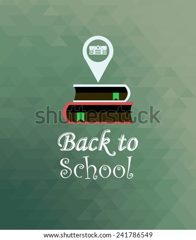 back to school illustration over color background - stock vector