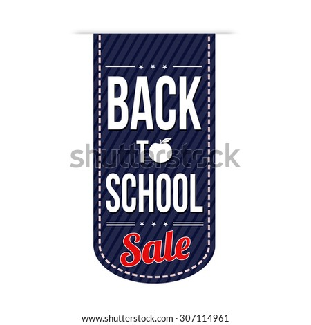 Back to school sale banner design over a white background, vector illustration - stock vector