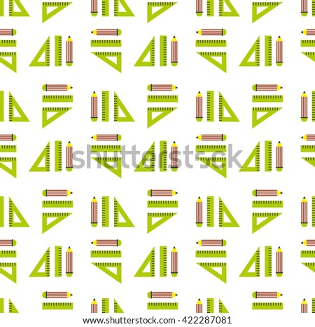 Back to school seamless background pattern. Vector illustration - stock vector