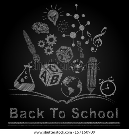 Back to School Sketch illustration background - stock vector