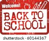 Back to school stamp red - stock vector