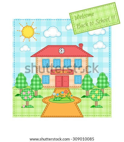 Back to school. The checkered pattern.Vector illustration. EPS 10. - stock vector