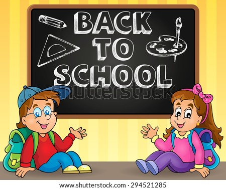 Back to school thematic image 9 - eps10 vector illustration. - stock vector