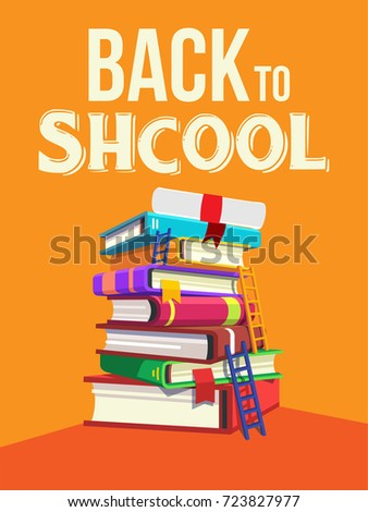 Back school time study stock vector 723827977 shutterstock back to school time to study altavistaventures Choice Image