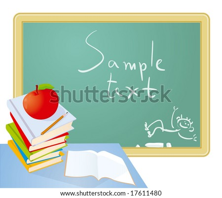 Back to school. Vector. - stock vector