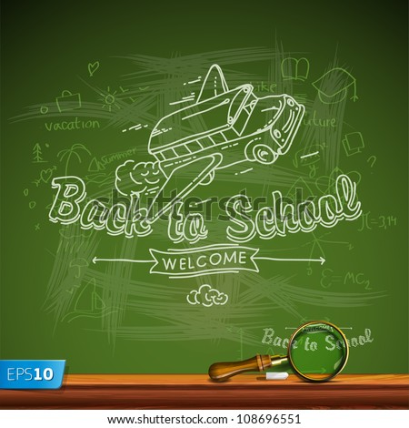 Back to school, vector Eps10 illustration. - stock vector