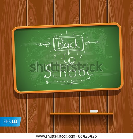 Back to School. Vector eps10 illustration. - stock vector