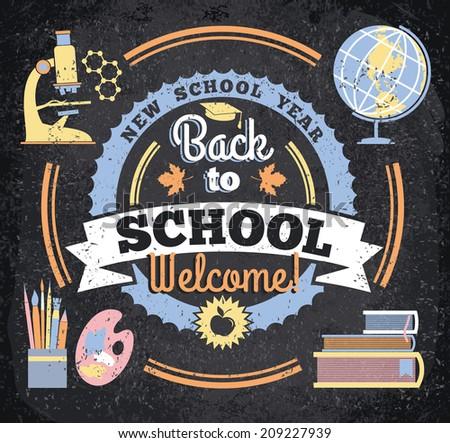Back to school. Vector illustration  - stock vector