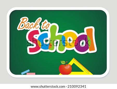 Back to school. Vector illustration.  - stock vector