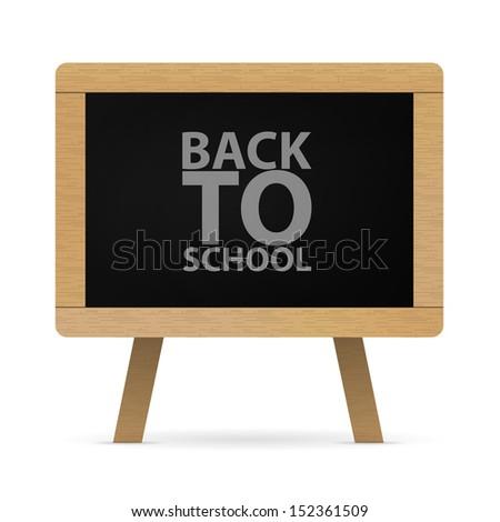 Back to school, vector image - stock vector