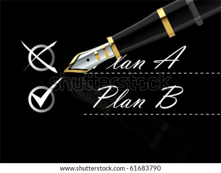 back up plan vector