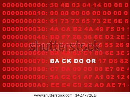 Backdoor Abstract Background - stock vector