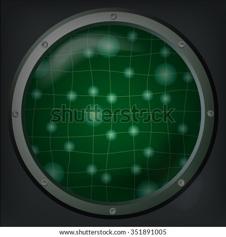 Background, abstract, grid, lights, radar vector, banner, illustration - stock vector