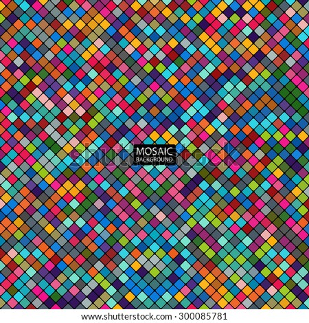 background abstract mosaic of the grid pixel pattern and colorful squares. stock vector illustration eps10 - stock vector