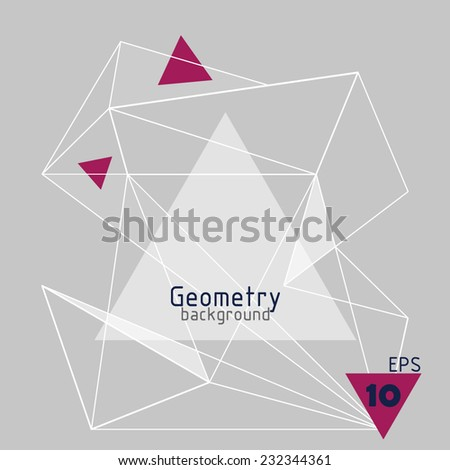 background abstract triangles  - stock vector