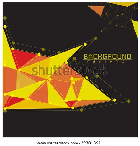 Background Abstract Yellow  black with Connecting Dots and Lines