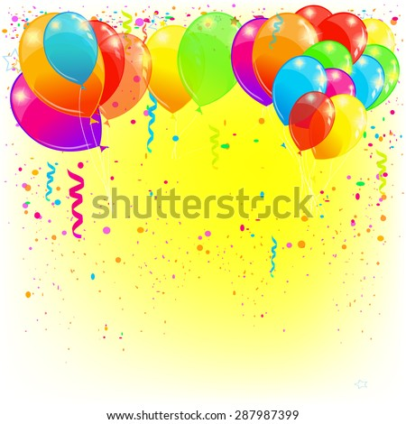 Background balloons. Vector