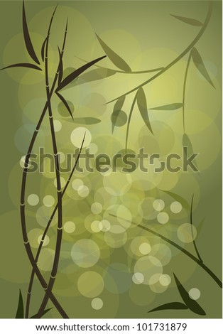 background bamboo thickets - stock vector