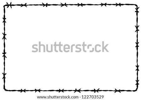 background barbed wire - stock vector