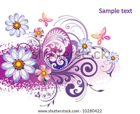 Background, beautiful easter egg - stock vector