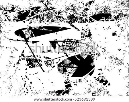 Background black and white abstract texture vector with  dark spots, nets and lines