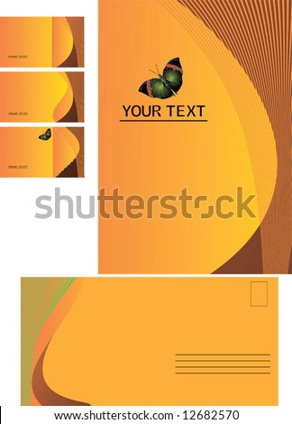 background, business card, letter-2 - stock vector
